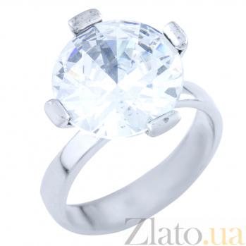Серебряное кольцо Диана с фианитом 000076403