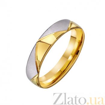 Обручальное кольцо из комбинированного золота Исполнение мечты TRF--431259