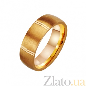 Золотое обручальное кольцо Мистика любви TRF--4111094