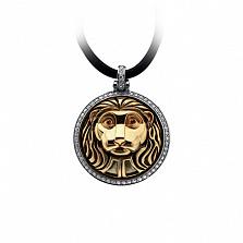 Золотой подвес с бриллиантами Lion