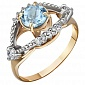 Золотое кольцо с топазом и фианитами Анжелика AUR--31713 02