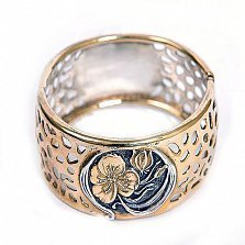 Серебряный браслет с позолотой Табити