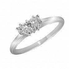 Кольцо из белого золота Тереза с бриллиантами