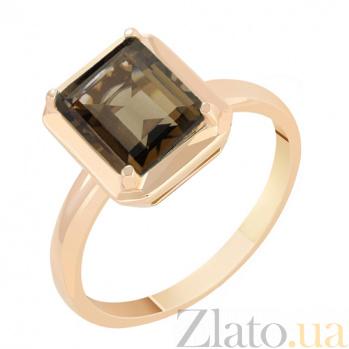 Кольцо в красном золоте Ванесса с раухтопазом 000023476