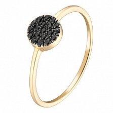 Золотое кольцо Вечерний сумрак с фианитами
