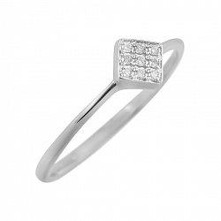 Кольцо из белого золота Роберта с бриллиантами