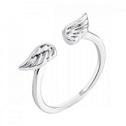 Серебряное разомкнутое кольцо Крылья вдохновения 000064246