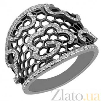 Кольцо из белого золота с фианитами Мерцана VLT--TT1041