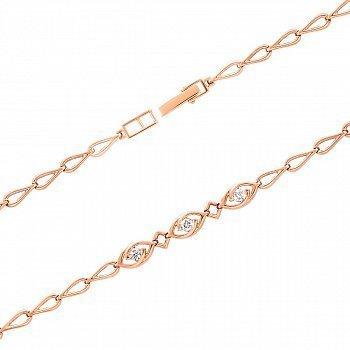 Браслет из красного золота с бриллиантами 000150415