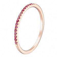 Кольцо в красном золоте Сия с рубином
