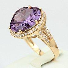 Золотое кольцо Успех с александритом и фианитами