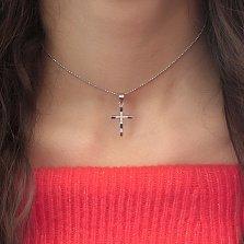Серебряный крест Антуанетт с цирконием