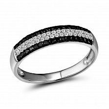 Кольцо из белого золота Доминика с бриллиантами