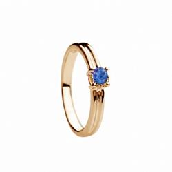 Золотое кольцо с сапфиром Эмилия