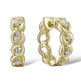Серьги из желтого золота с бриллиантами Колосок