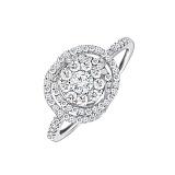 Золотое кольцо с бриллиантами Элен
