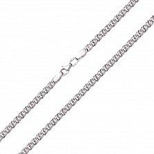 Серебряная цепь Мэрион с чернением, 4мм