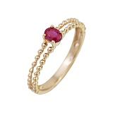 Золотое кольцо с рубином Скарлетт