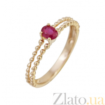 Золотое кольцо с рубином Скарлетт 000032297