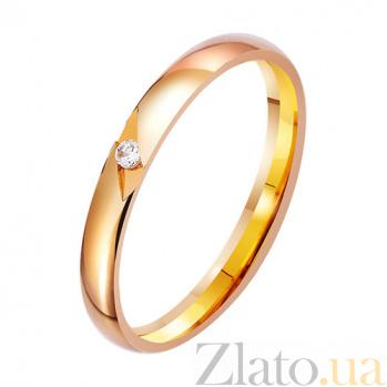 Золотое обручальное кольцо с фианитом Моя звезда TRF--412754
