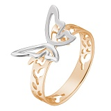 Кольцо Урания в розовом и белом золоте