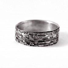 Кольцо из серебра Effort с чернением