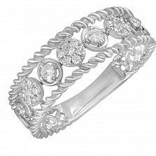 Кольцо Удача из белого золота с бриллиантами