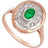 Золотое кольцо с фианитами Мелодия Орфея