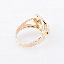 Золотое кольцо Персея с черными фианитами