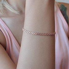 Золотой браслет Лила в плетении двойной якорь, 3,5мм