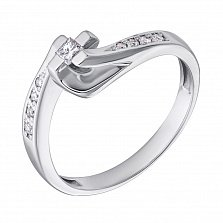 Золотое кольцо с бриллиантами Аркадия