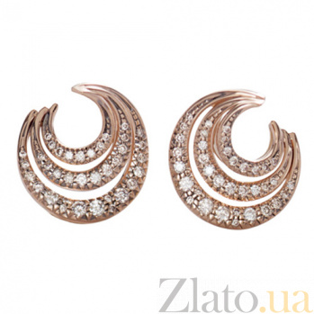 Серьги Serpenti с бриллиантами из красного золота E-Stern-R-d3