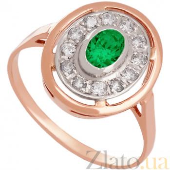 Золотое кольцо с фианитами Мелодия Орфея 000027247