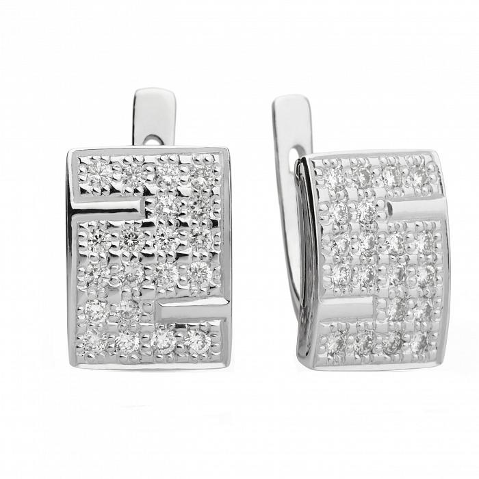Серьги из белого золота с бриллиантами Натали 000030560