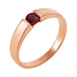 Кольцо из красного золота с рубином 000137447
