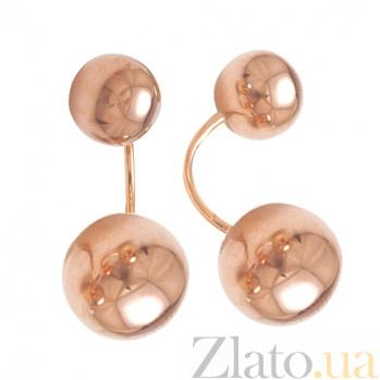 Позолоченные серебряные серьги Спутники души HUF--500154-СПЗ