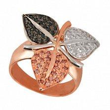 Золотое кольцо Времена года с фианитами