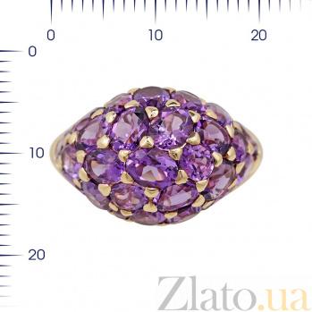 Кольцо из красного золота Женевьева с аметистами 000081991