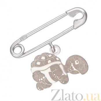 Серебряная булавка Черепашка 000032580