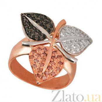 Золотое кольцо Времена года с фианитами VLT--Е1013