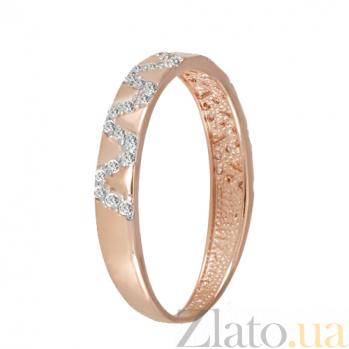 Кольцо в красном золоте Мари с фианитами 000023155