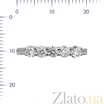 Кольцо из белого золота Хейли с бриллиантами 000080910