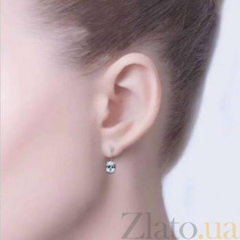 Серебряные серьги с цирконами Лилу AQA--220530084/9