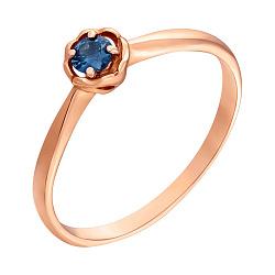 Золотое помолвочное кольцо Паола с сапфиром