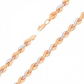 Золотой браслет в комбинированном цвете 000123146