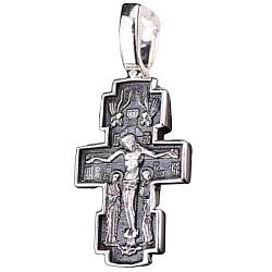 Серебряный крест Рождество с чернением 000038797