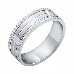 Обручальное кольцо из серебра 000102982