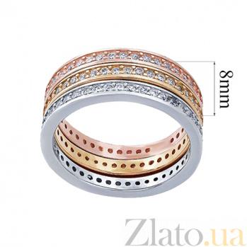 """Серебряное кольцо с позолотой """"Актриса"""" AQA-R00362gl"""