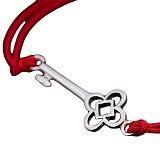 Шелковый браслет Ключик с серебряной вставкой