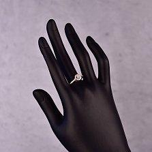 Серебряное кольцо Матильда с фианитами